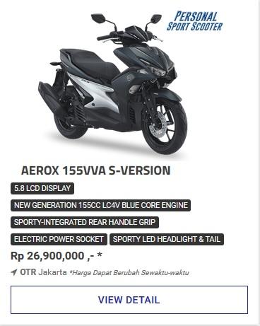 Kredit Motor Yamaha Aerox 155Vva S Version