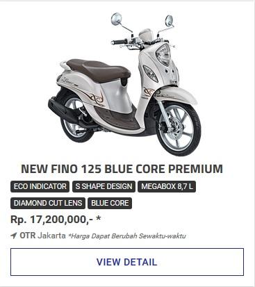 Kredit Motor Yamaha Fino 125 Blue Core Premium