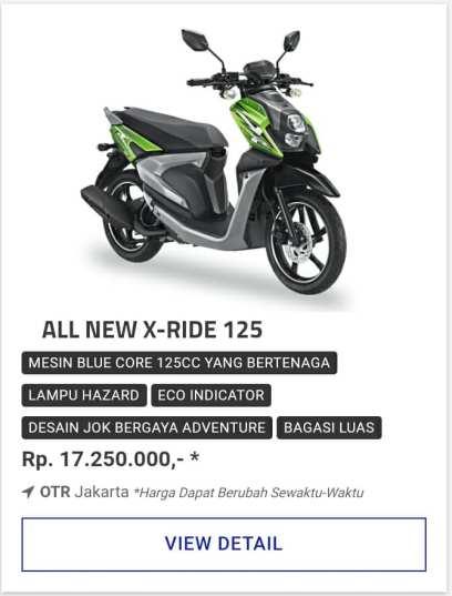 Kredit Motor Yamaha Xride 125 Promo Motor Yamaha Diskon Dp Besar.jpg