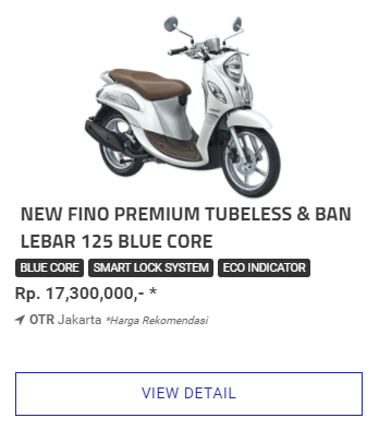 Kredit Motor Fino 125 Blue Core