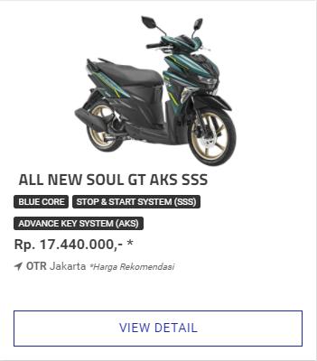 Kredit Motor Yamaha Soul GT 125 Aks Sss