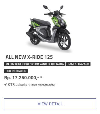 Kredit Motor Yamaha Xride 125