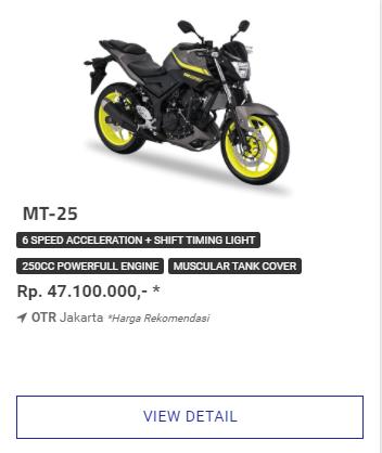 Kredit Termurah Motor Yamaha MT25